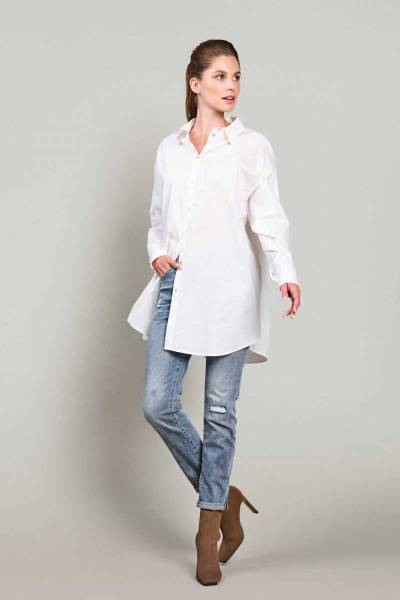 Classic shirt crispy poplin white Summum
