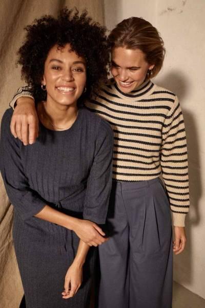 Lanja 3/4 knit dress ombre blue Mos Mosh