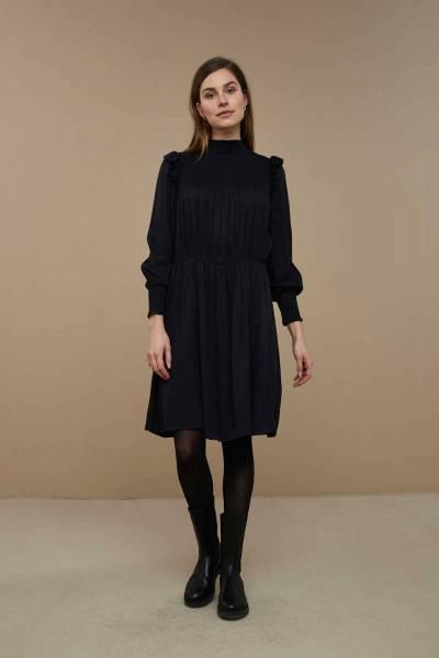 Marcia twill dress jet black By Bar