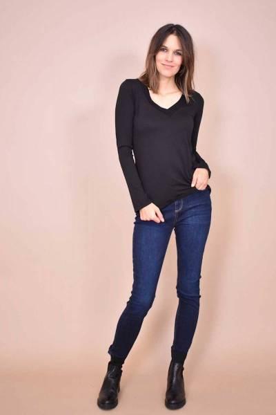 Fabrina tee shirt noir La Fee Maraboutee