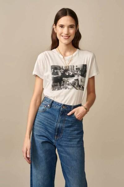 Covi11 t-shirts vintage white Bellerose