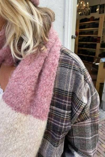 Tri-color amaranto mix INTI knitwear