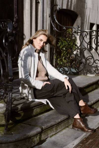 Tess long cardigan light grey Aimee