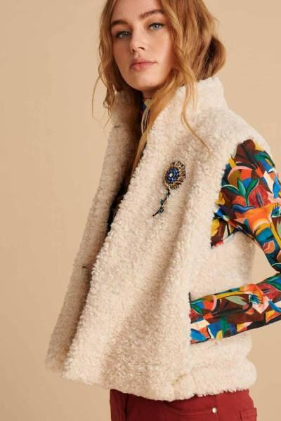 Teddy ivory ecru jacket Pom Amsterdam