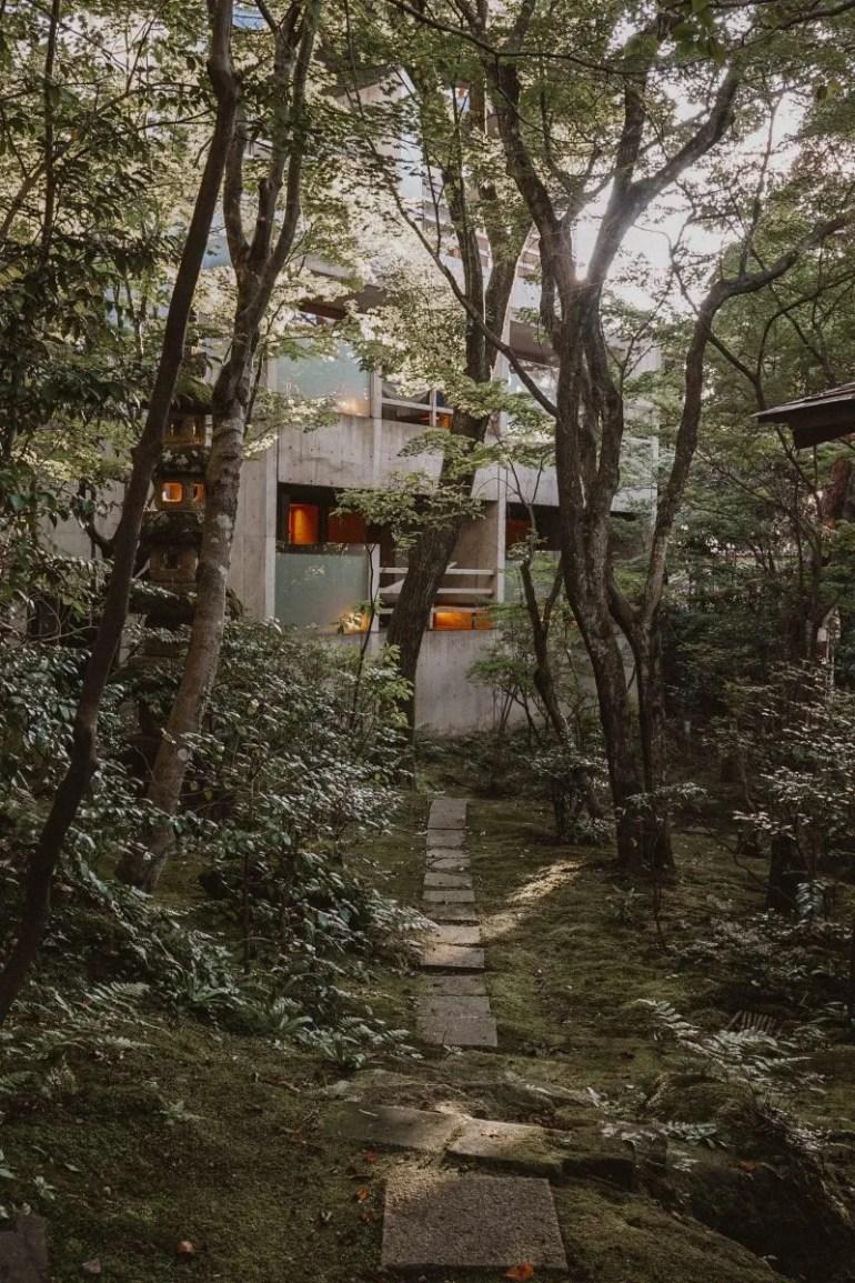 Onsen gardens in Kanazawa.
