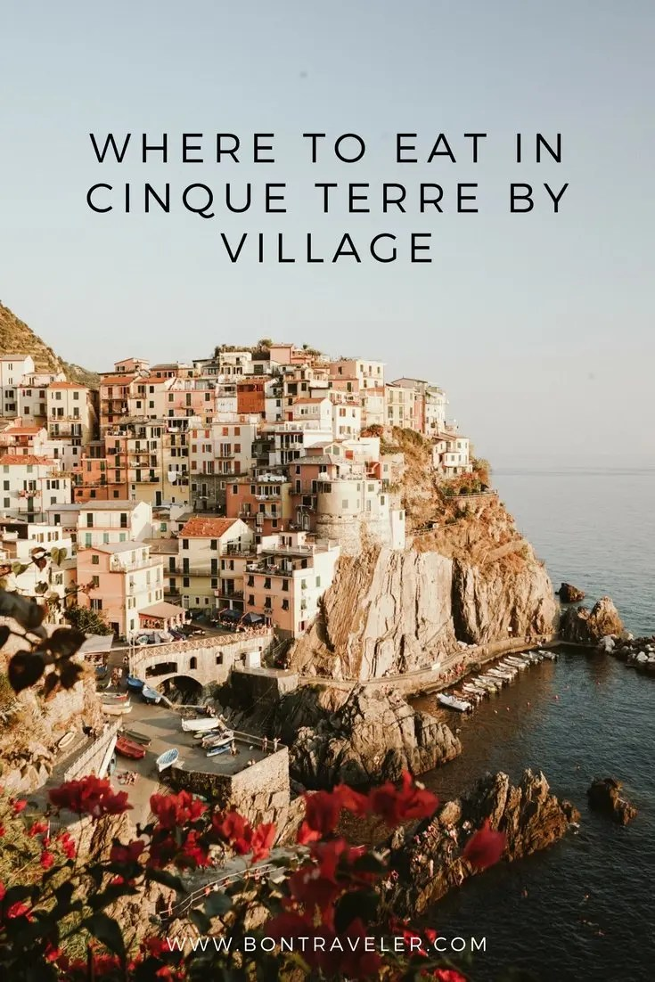 Where to Eat in Cinque Terre by Village
