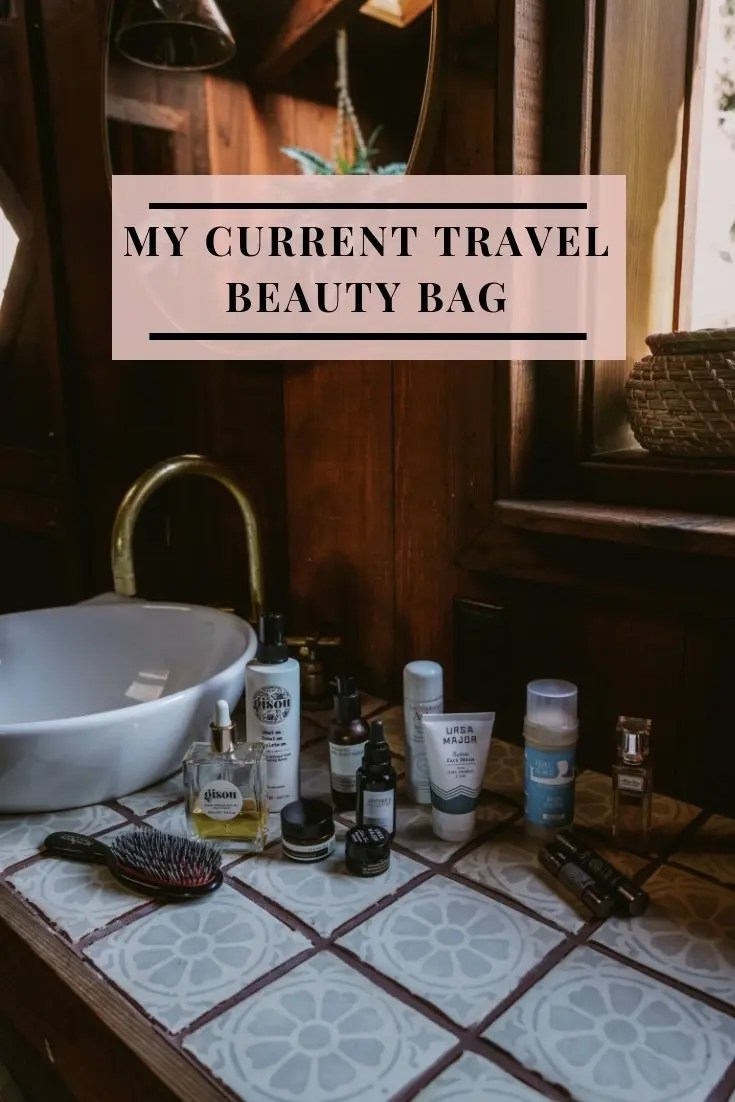 My Current Travel Beauty Bag