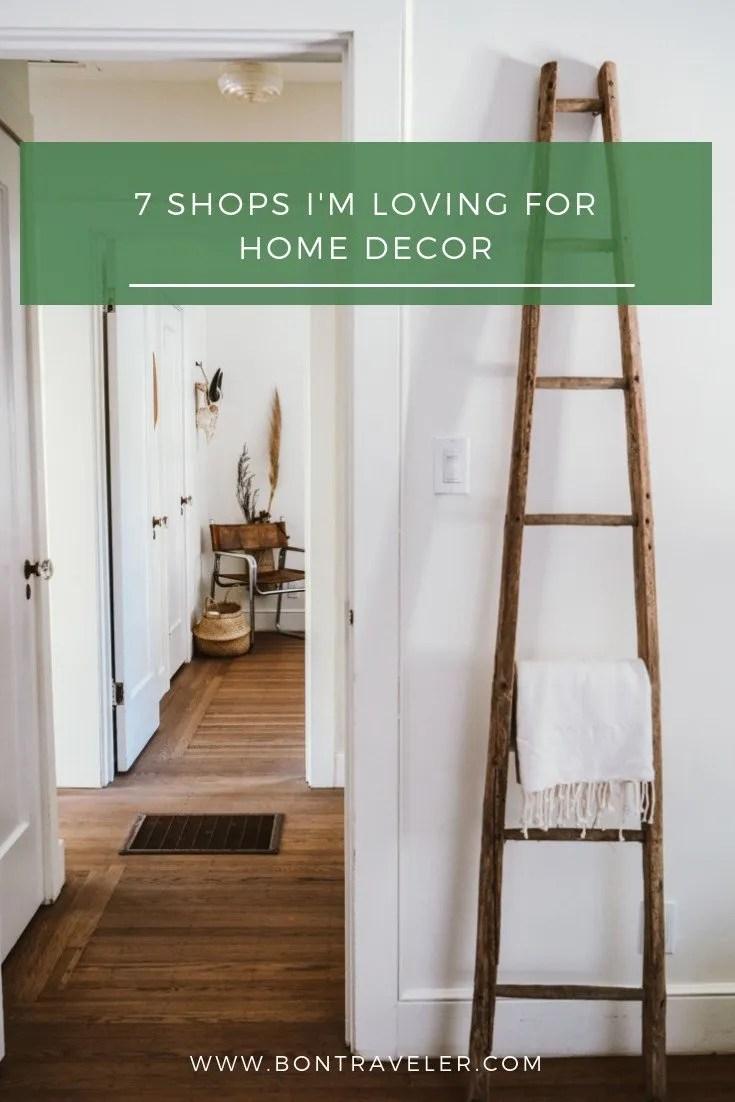 7 Shops I'm Loving For Home Decor