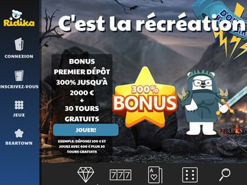 casino ridika avis bonus gratuits