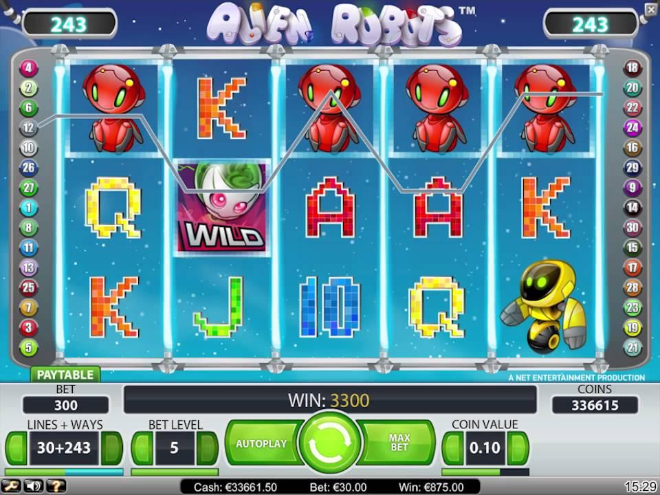 Alien Robots de Netent dans les casinos en ligne de France-min
