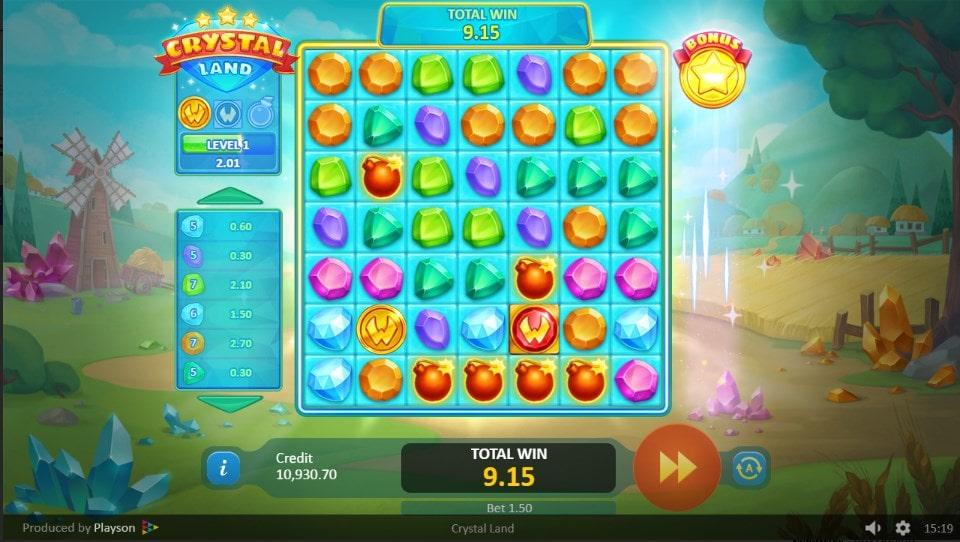 Crystal Land de Playson dans les casinos en ligne de France-