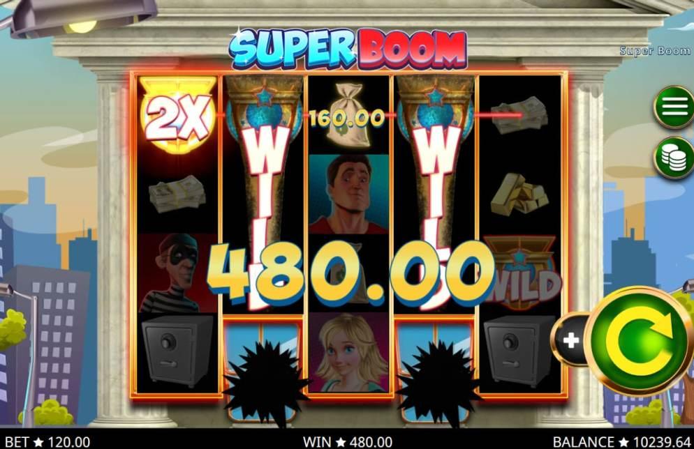 La machine a sous Super boom de Booming Games .-min