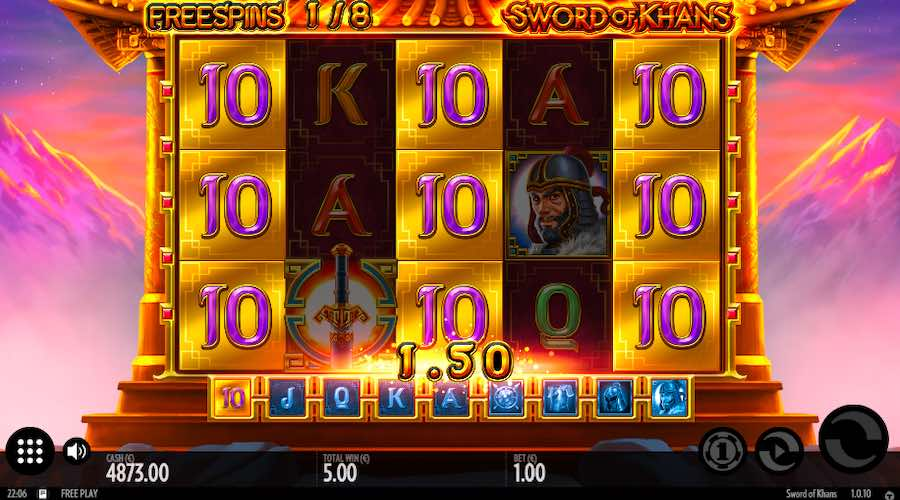 La machine a sous Sword of Khans de Thunderkick dans les casinos en ligne de France-min