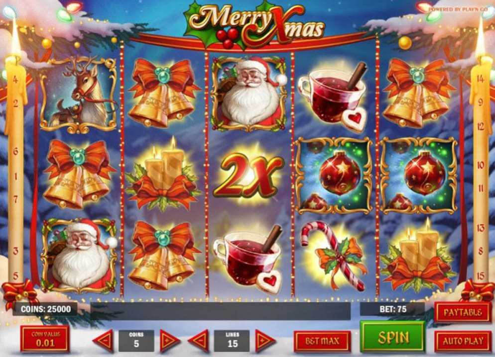 Merry Christmas de Play N Go dans les casinons dr France-min