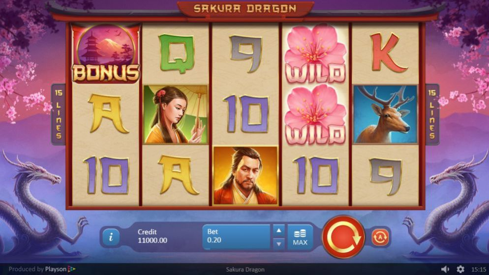 Sakura Dragon de Playson dans les casinos de France