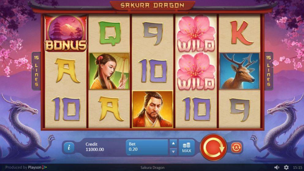 Sakura Dragon de Playson dans les casinos de France