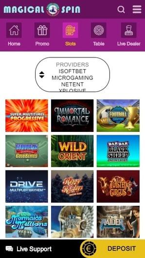 bonus gratuit de magical spin casino. magical spin casino sur smartphone