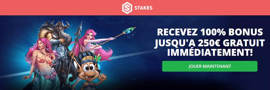 stakes casino bonus de bienvenue et tours gratuit stakes casino en ligne en france