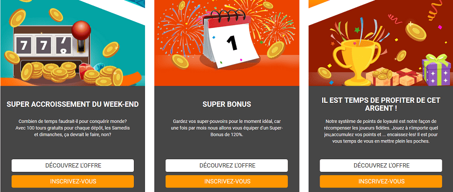 Casino Superlines bonus gratuit sans depot, bonus de bienvenue