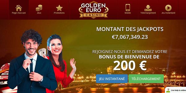 Golden Euro Casino en ligne fiable