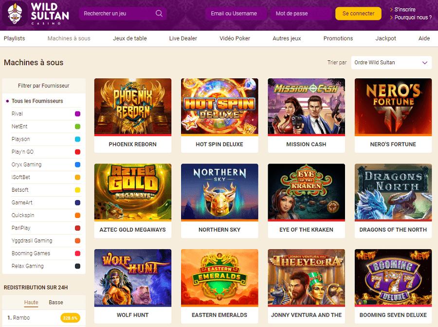 casino wildsultan en ligne avec bonus gratuits