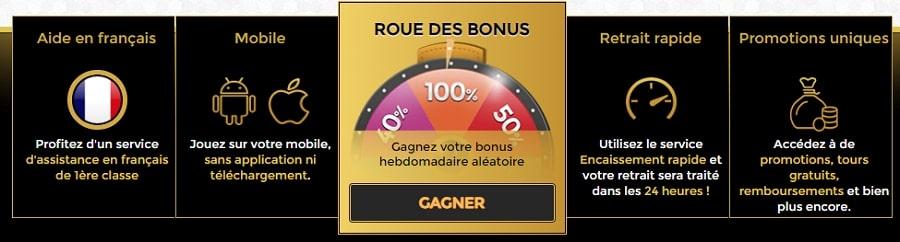 unique casino en ligne en france bonus de bienvenue