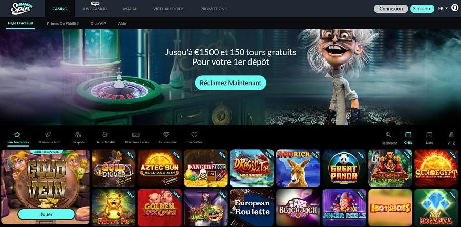 Casino Spin Madness nouveau casino en ligne au canada