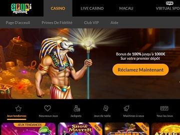avis sur spin million casino bonus sas depot vip bonus de bienvenue