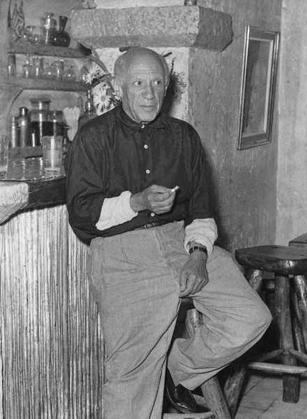 Picasso at La Colombe d'Or in Saint-Paul-de-Vence