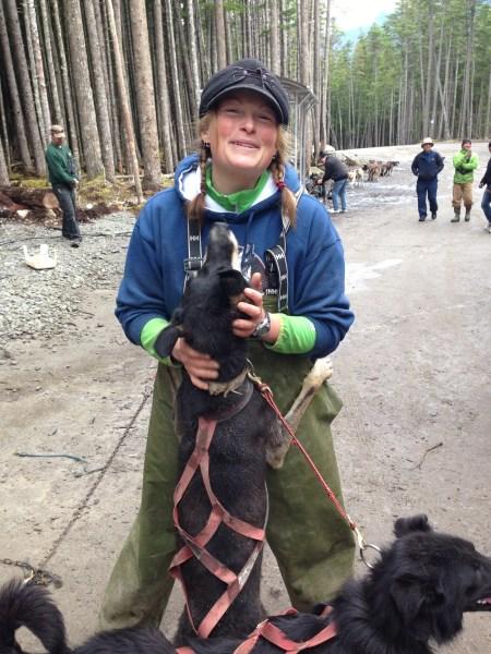 Summertime dog sled ride in Skagway, Alaska!