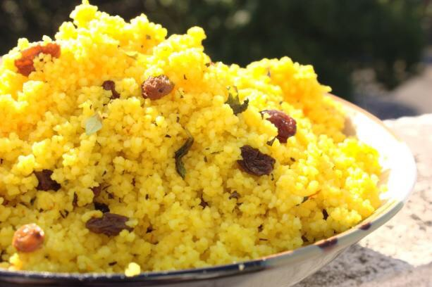 BEST of Algeria food: Saffron and Raisin Couscous!