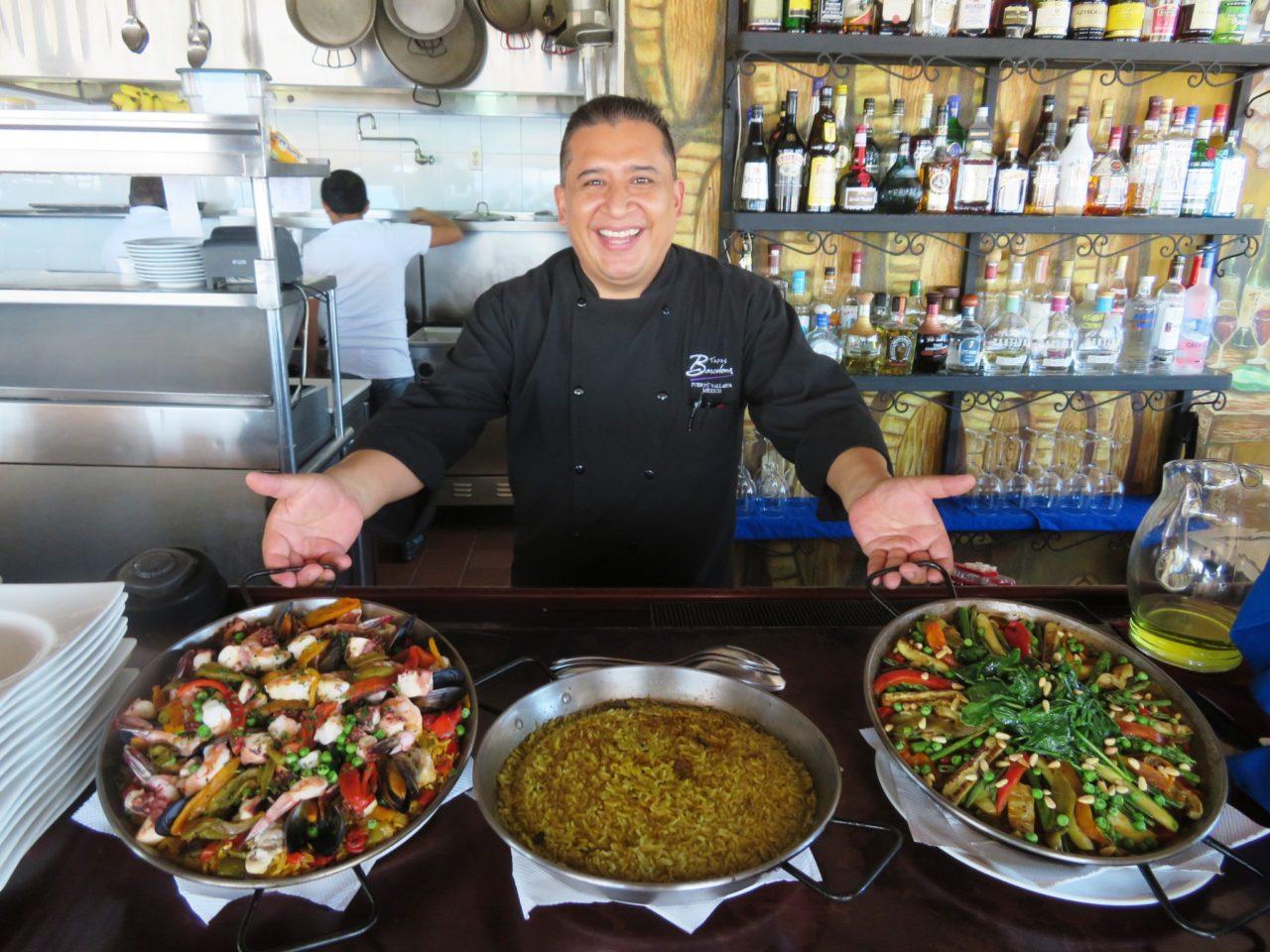 Puerto Vallarta Favorite Experiences : Paella at the Barcelona Tapas Restaurant