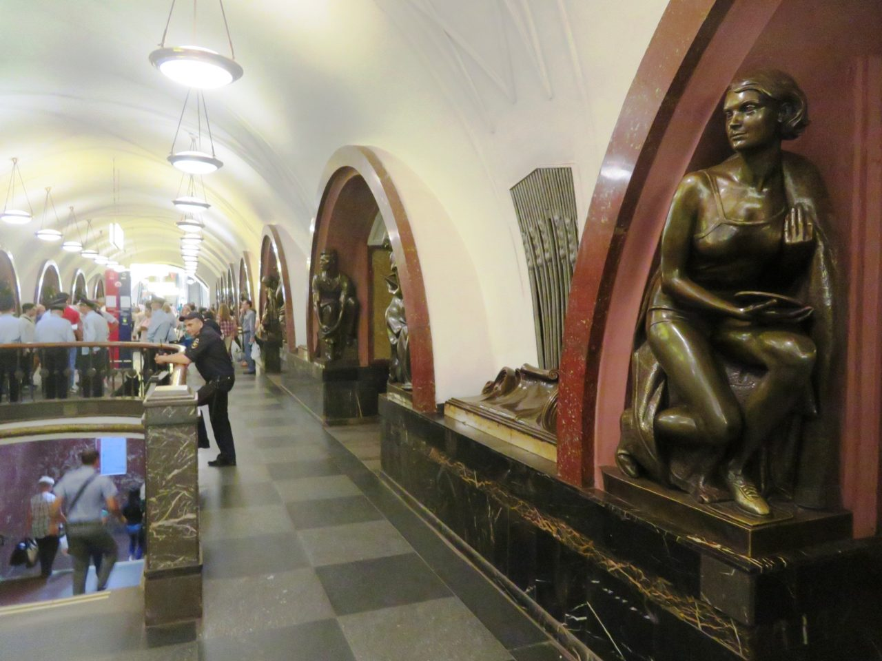 Exploring the metro in Moscow, Russia