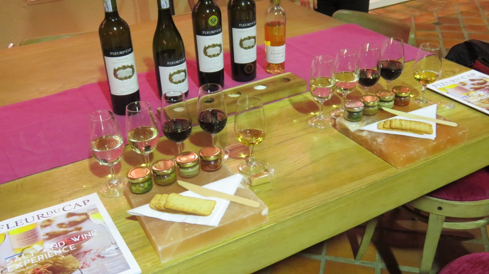 Salt and Wine Pairing Experience at Fleur du Cap Wines in Stellenbosch, South Africa