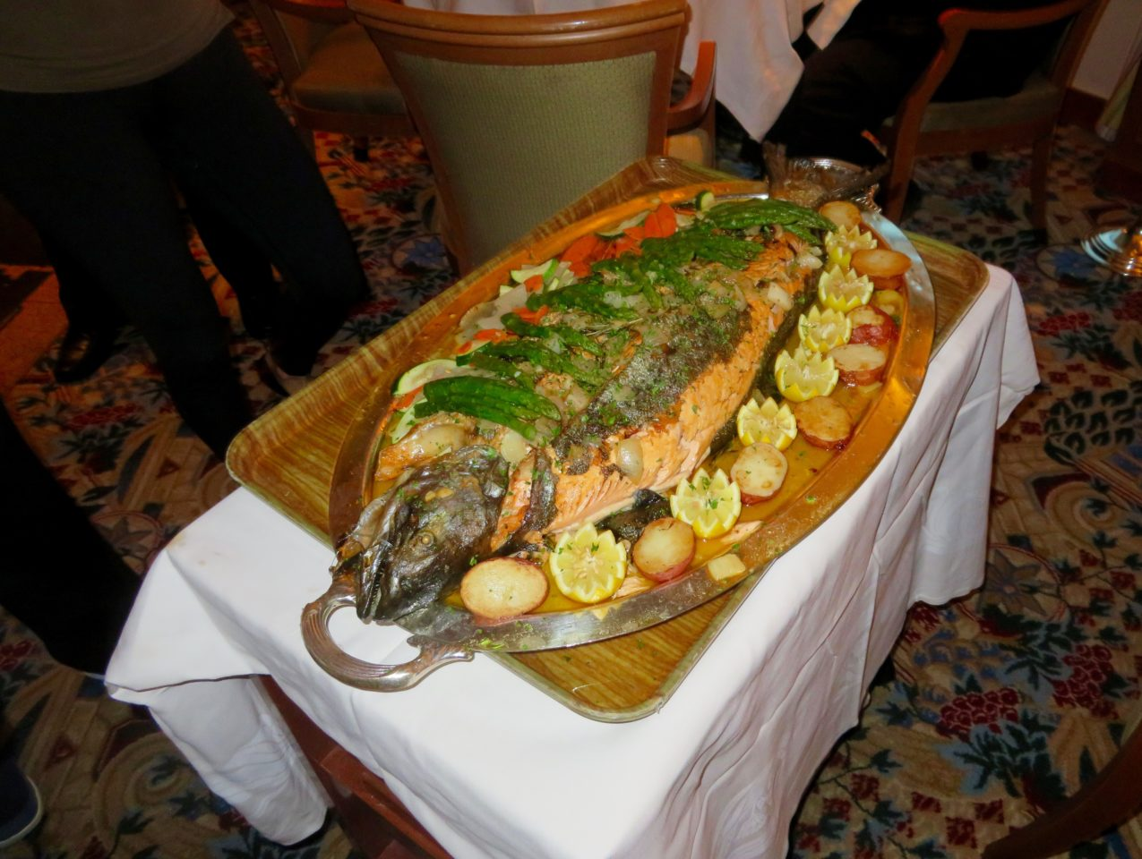 """Cook My Catch"" salmon cooked and served onboard the Star Princess during our Alaska Cruise with Princess Cruises"