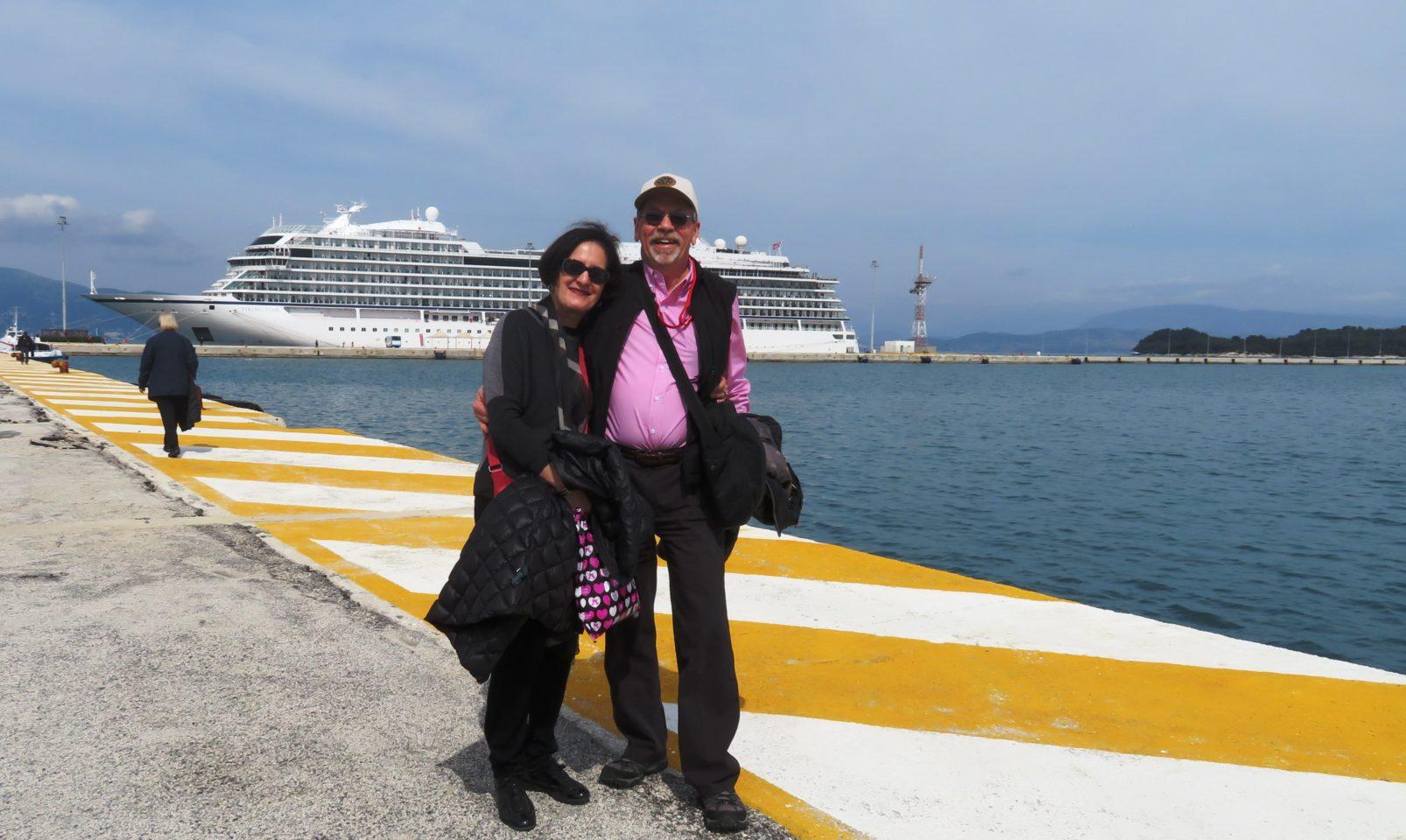 VIKING OCEAN CRUISES ~ Denis and Lynn in Corfu, Greece