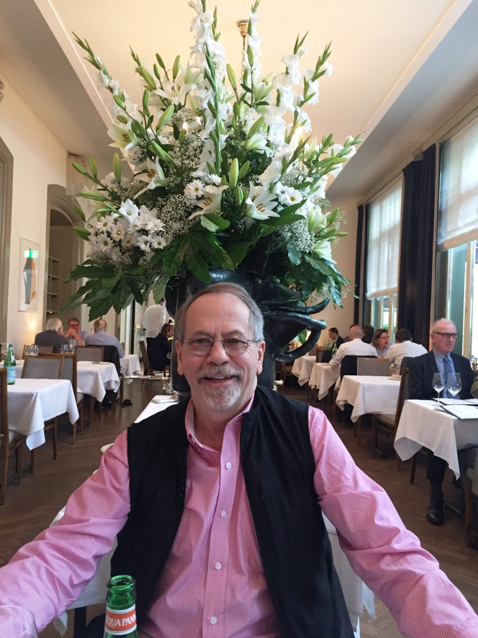 Denis at the KunstHalle Restaurant in Basel, Switzerland