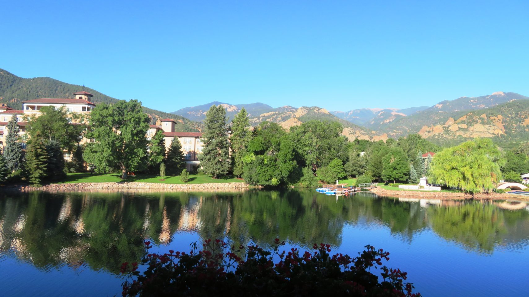 The Broadmoor Restaurants ~ Room Service breakfast comes with this incredible view !