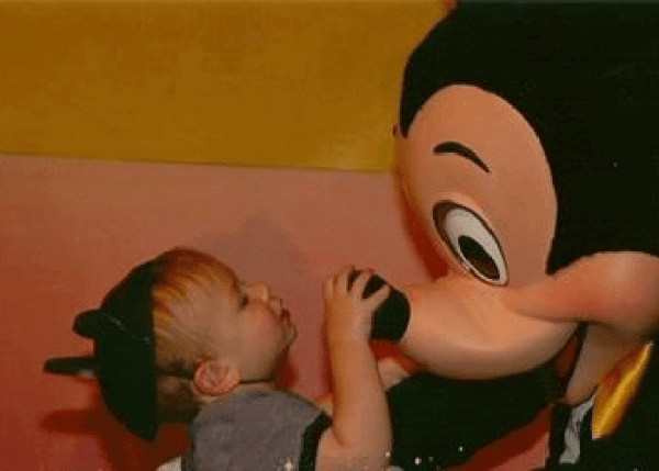 disney-world-with-toddler and mickey mouse