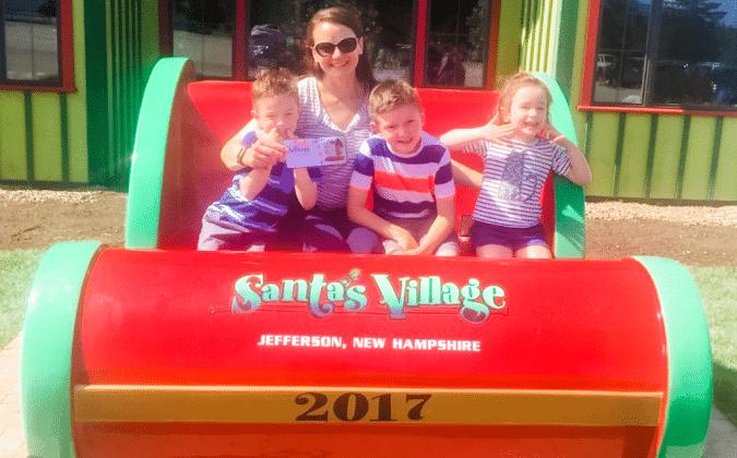 Santa's Village Sleigh with family
