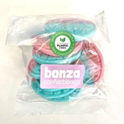 Bonza Confectionery - Rasp:Blueb Bubs Ovals 3