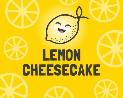 Slab Artisan Fudge - Vegan Lemon Cheesecake Flavour Graphic