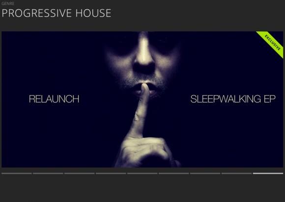 RELAUNCH – SLEEPWALKING EP FEATURED BY BEATPORT