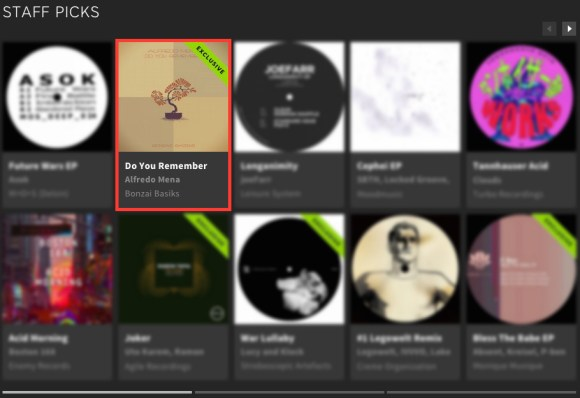 ALFREDO MENA – DO YOU REMEMBER FEATURED BY BEATPORT
