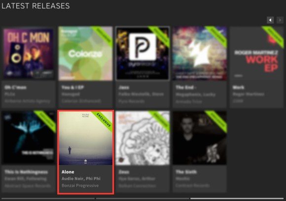 PHI PHI – ALONE FEATURED BY BEATPORT