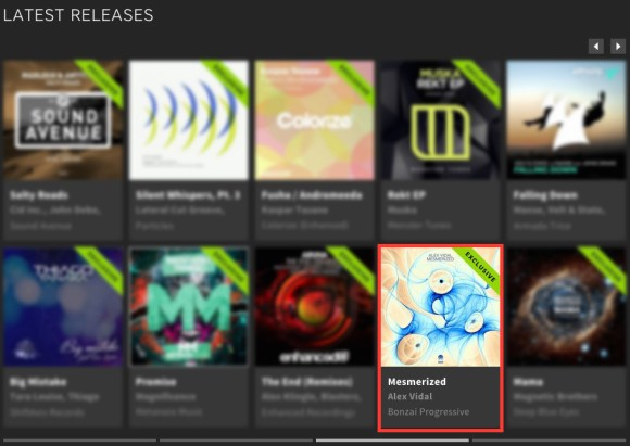 ALEX VIDAL – MESMERIZED FEATURED BY BEATPORT