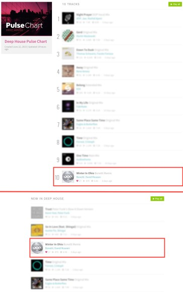 DAVID MUSEEN – WINTER IN OHIO (BONETTI REMIX) CHARTED BY BEATPORT'S PULSE CHART