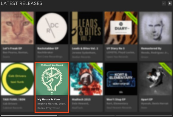 MY HOUSE IS YOUR HOUSE 12 FEATURED BY BEATPORT