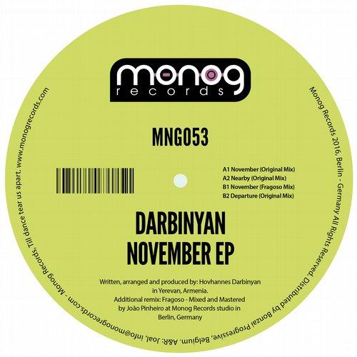 DARBINYAN – NOVEMBER EP (MONOG RECORDS)