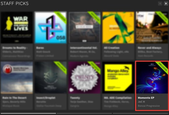 JOC H – MOMENTO EP FEATURED BY BEATPORT